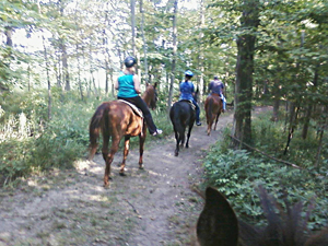 Trail riding at the Triple T Ranch, Findlay Ohio
